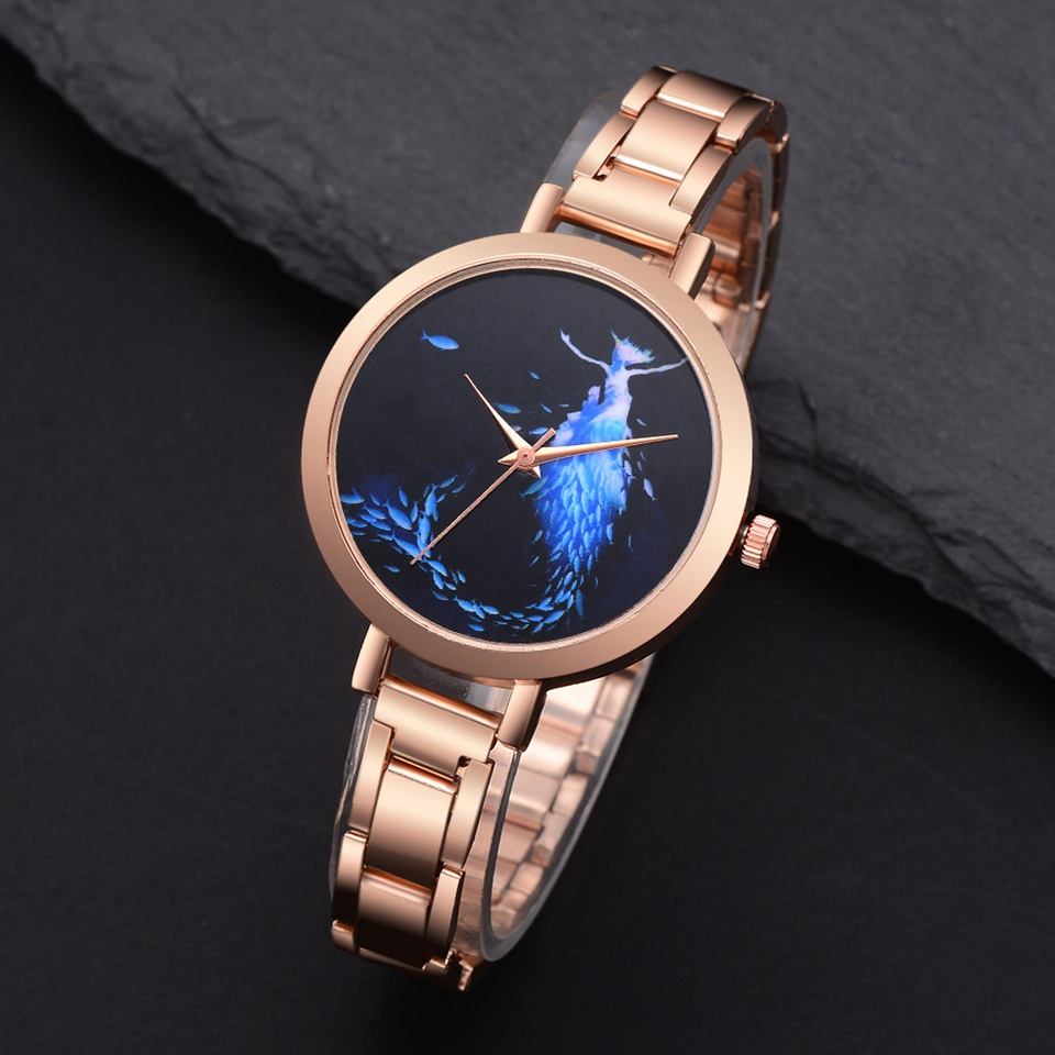 Lvpai Women Dress Watches Ladies Bracelet Watch Rose Gold Stainless Steel Fashion Luxury Watch Mermaid Quartz Clock Feminino 2017 new arrive lvpai brand rose gold women bracelet watch fashion simple quartz wrist watches ladies dress luxury gift clock
