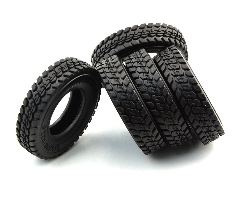 1/14 Billet Truck Rear& Front Tires set Tamiya Tractor 1 - J&M Rc Factory store