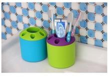 1PC Hot Sale Porous Couple Creative Toothbrush Holder Toothpaste Mouthwash Multi-function Desktop Pen Rack LF 013