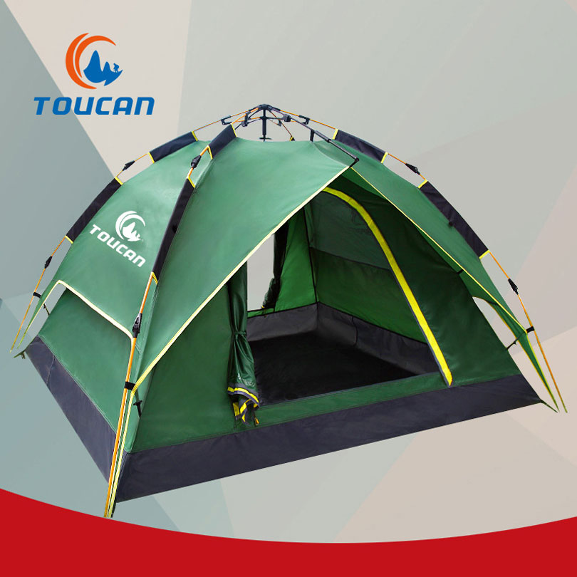 Waterproof 3 Season Tents for Camping 3-4 Person Camping Tent ultralight 210D Oxford Fabric Double-layer Outdoor Camping Tent high quality outdoor 2 person camping tent double layer aluminum rod ultralight tent with snow skirt oneroad windsnow 2 plus