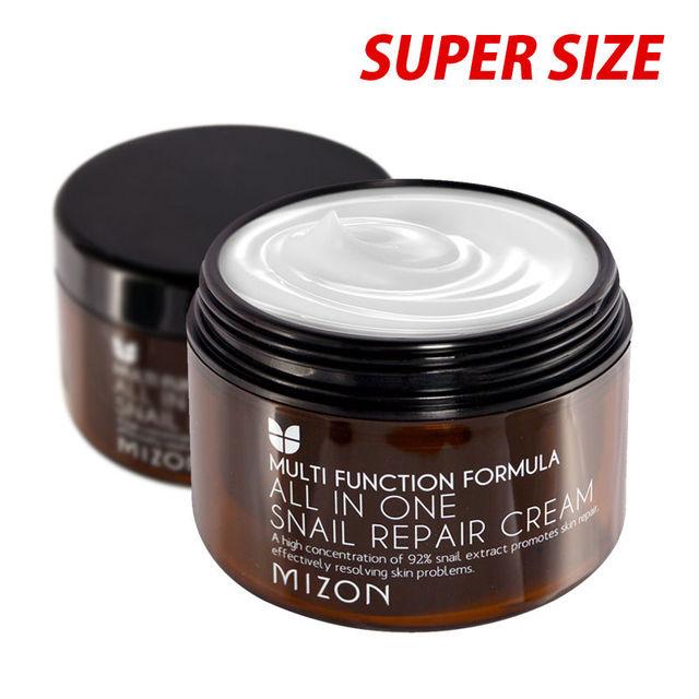 MIZON All In One Snail Repair Cream 120ml (Super Size) Facial Cream Face Skin Care Whitening Moisturizing Anti-aging Anti Wrink