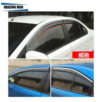Sun visor High quality PP material car Window Visor Wind Deflector Sun Rain Guard Defletor for VIOS 2014