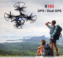 Global X183 Dual GPS Drone RC Drone Quadcopter Dengan HD Kamera Kamera Udara Ketinggian Memegang FPV Wifi RC Helikopter FSWB