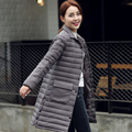 2016 Nueva primavera chaqueta de las mujeres abrigo de invierno ropa de mujer Medio-Largo de Algodón Acolchado delgado caliente Abajo Chaqueta de la capa Alta calidad