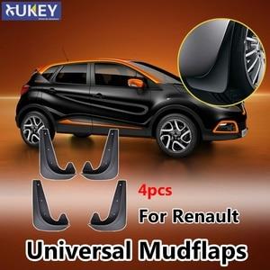 4Pcs Universal Mud Flaps Mudflaps Splash Guards Front and Rear For Renault Megane Captur Clio Kwid Kadjar Fluence Symbol Koleos(China)