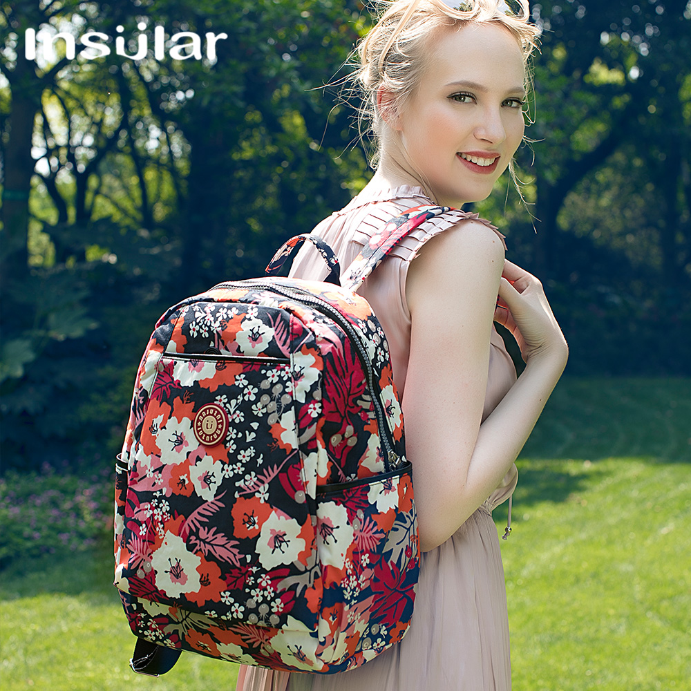 Insular maternity baby diaper bag for Mom organizer nursing mummy bags Fashion multifunctional print color backpack for stroller in Diaper Bags from Mother Kids