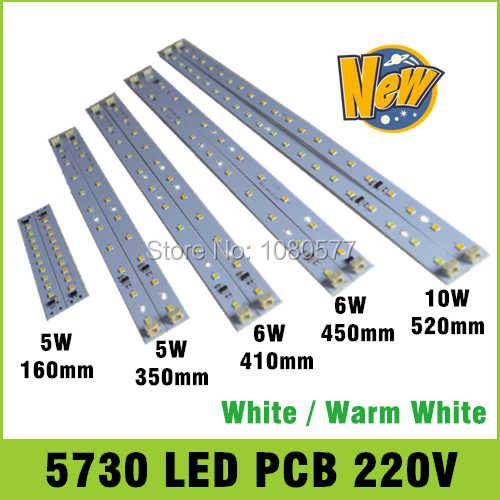 10 шт. AC 220 В высокая яркость светодиодный светильник бар полосы водителя для T5 T8 трубки, 5 Вт 6 Вт 8 Вт 10 Вт 180-260 в SMD 5730 светодиодный pcb светильник источник