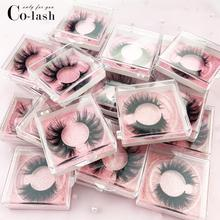 Colash new 3D Mink Hair False Eyelashes Wispy Cross Eye Lashes Fluffy Handmade Extension