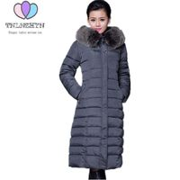 Women Winter Coat Jacket 2017 Hooded Fur Collar Plus Size Warm Down Cotton Coat Thicke Solid