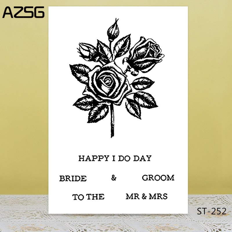 Us 2 27 40 Off Azsg Flower Style Invitation Card Clear Stamps Seals For Diy Scrapbooking Card Making Album Decorative Silicon Stamp Craft In Stamps
