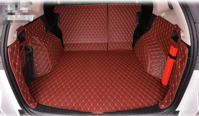 High Quality New Special Trunk Mats For Honda Crv 2016 2007 Durable Waterproof Cargo Liner Boot Carpets 2017 Black Red