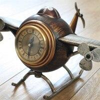 Table Seat Clock And Wine Bar Clothes Shop Decor Retro Clock Retro Aircraft Alarm Clock The DIY Household Decor Airplane