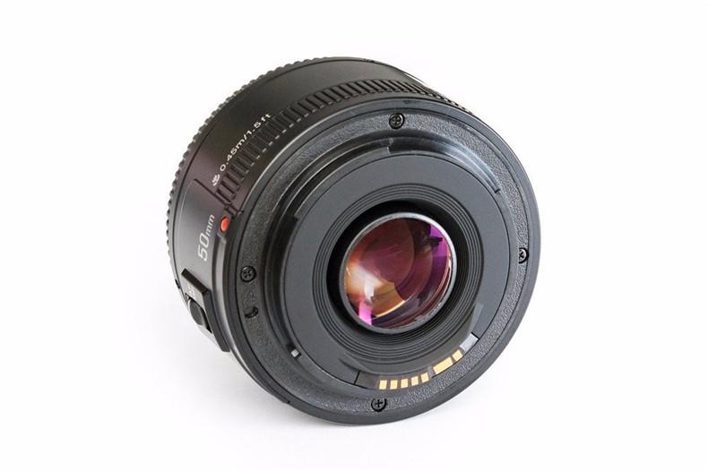 YONGNUO YN50mm F1.8 Standard Prime Lens Large Aperture Auto Focus Lens for Canon EF Mount Rebel 650D 700D 7D DSLR Camera Lens 6