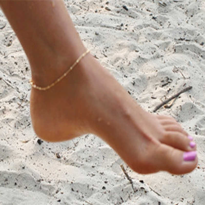 ファッション裸足ビーチアンクレットタッセルビーズブレスレットアンクレットフットジュエリーアンクレット夏足首ブレスレットアンクレット女性の脚チェーン