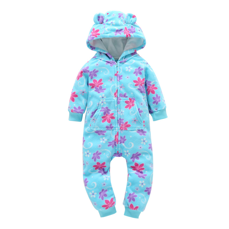 HTB12JyGzIuYBuNkSmRyq6AA3pXaA 2018 New Bebes Clothes Newborn One Piece Fleece Hooded Jumpsuit Long Sleeved Spring Baby Girls Boys Body Suits Romper