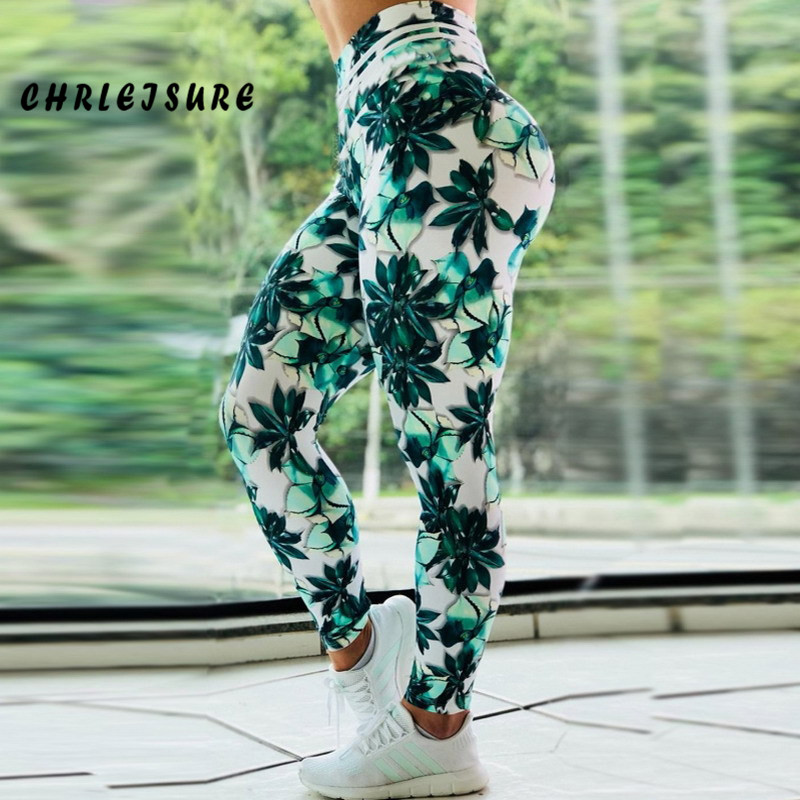 CHRLEISURE 2018 Women Digital Printing High Waist   Leggings   Sexy Polyester Fitness   Leggings   Slim Stretch Fashion Workout Jegging