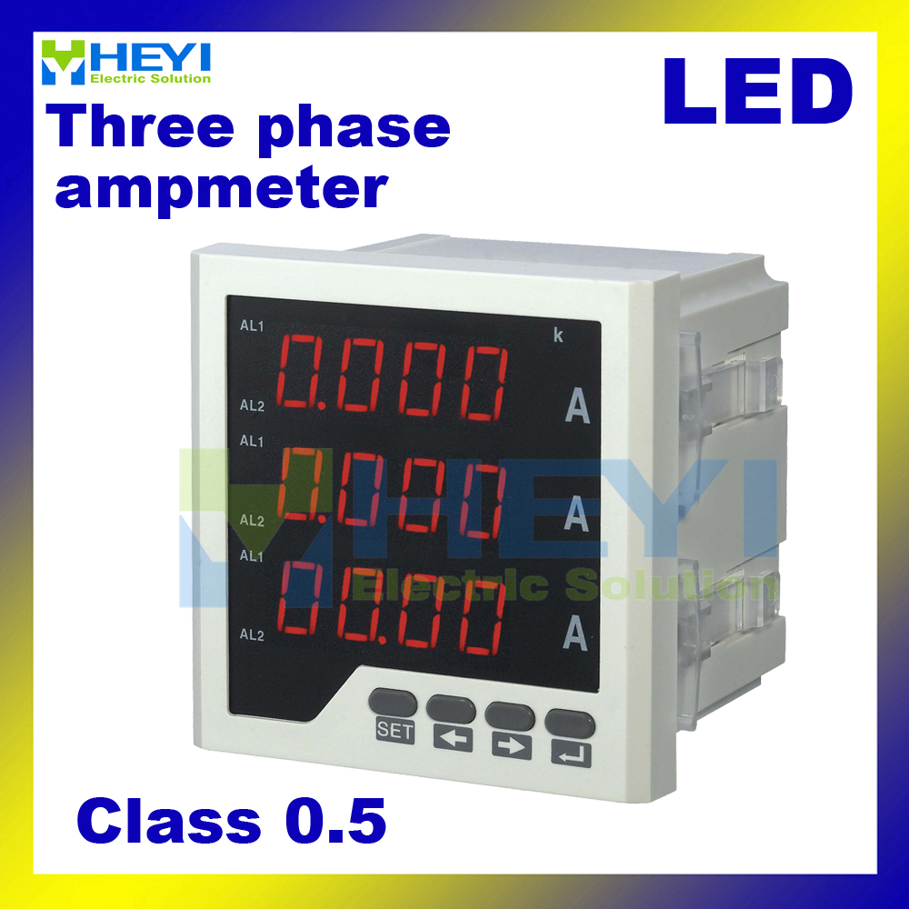 Digital Current Meter : Aliexpress buy three phase digital ampere meter led