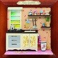 13624 Hongda dollhouse miniature kitchen furniture Album wooden doll house miniatures for decoration girls toys free shipping