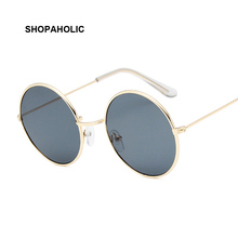 Round Small Sunglasses Women Brand Designer Vintage Metal Cheap