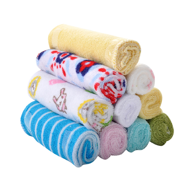 Soft Cotton Baby Towels Set