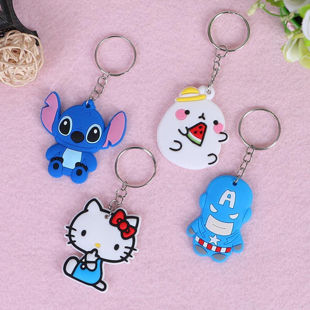1PCS surper hero Keychains Movie role Key chain Bag Pendant Popular cartoon characters keyring hot sell key ring goblin hero