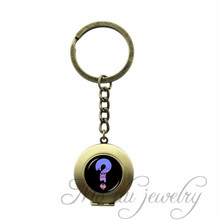 Gravity Fall – Bill Cipher Logo Round Glass Cabochon Locket Pendant Key Chain Ring Women Keychain Jewelry Dress Accessories
