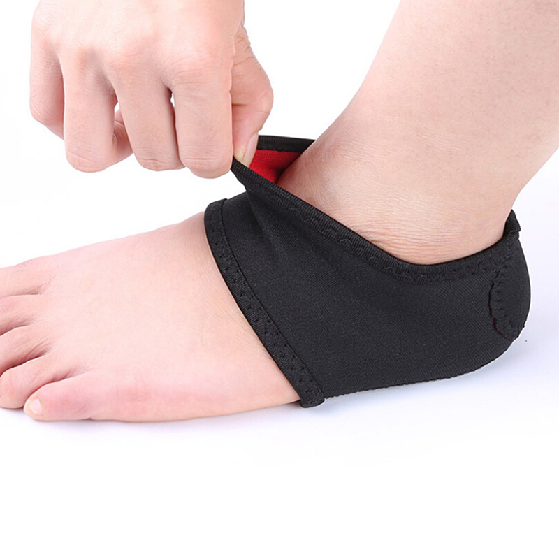 1 Pair Plantar Fasciitis Wrap Arch Support Foot Pain Relieve Heel Sleeve Spur Pain Sock Feet Ankle Care Support Heel Protector(China)
