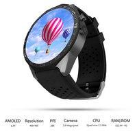 ZIMINGU 2017 Fashion Best Sales Kw88 Android 5.1 OS Smart Watch Screen MTK6580 SmartWatch Phone Support Bluetooth 3G Wifi