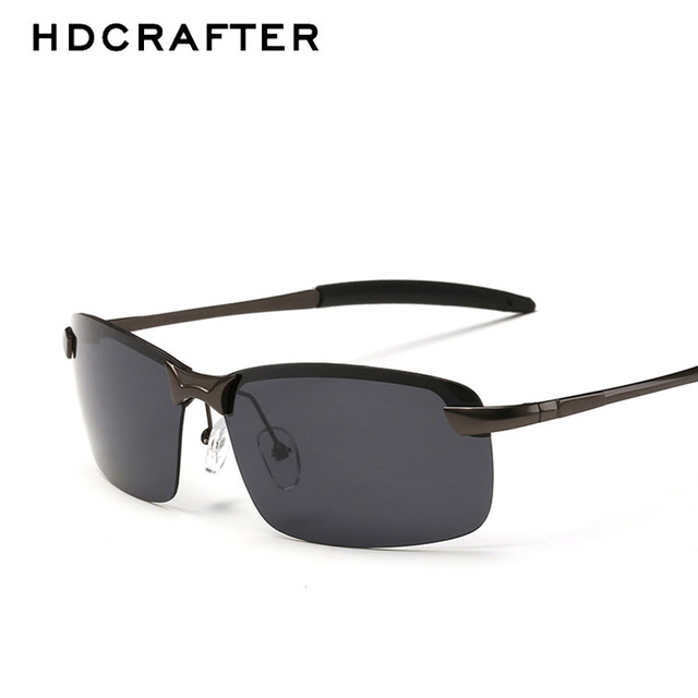 e780d4b5fc3 HDCRAFTER Brand New Polarized Men s Sunglasses 4 Color UV400 Sun Glasses  Men Metal Frame Driving Sunglasses