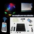 3D 8 многоцветный мини свет cubeeds LED DIY KIT с отличная анимация/8x8x8 Комплектов/Младший поддержка Aidrno с pc demo программное обеспечение