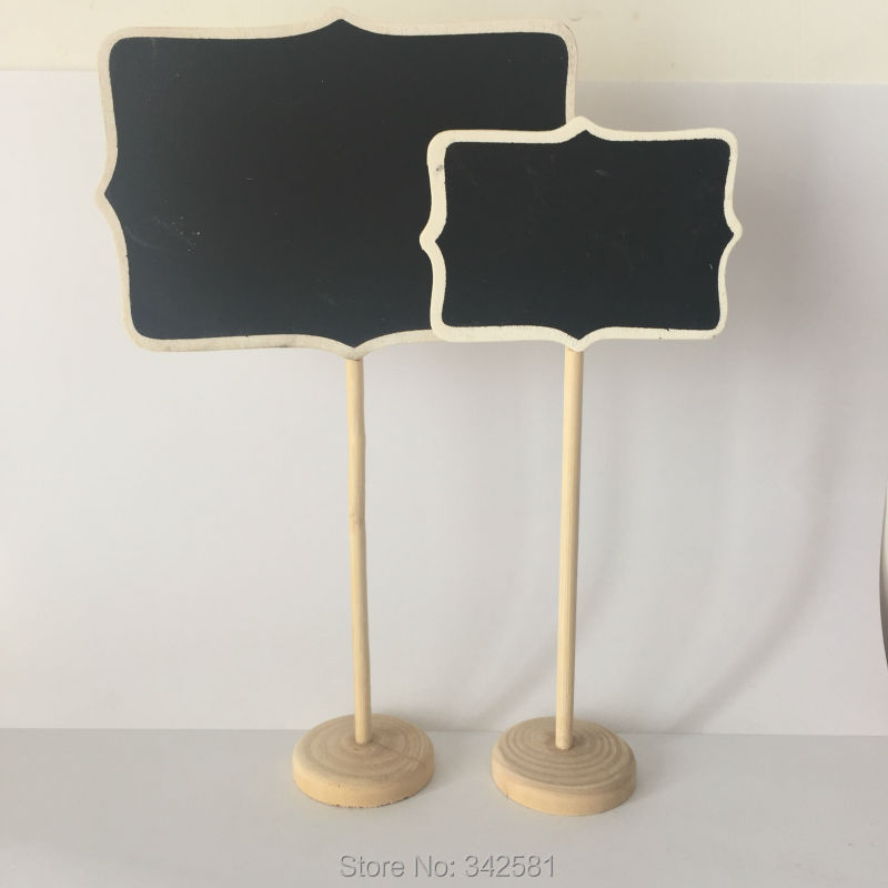 Chalkboard Table Stands Shabby Chic Wedding Decor. Chalkboard signs ...