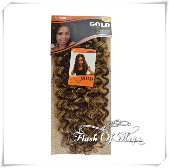 2 Pieces Lot 22 Le Gold Premium Curly Synthetic Hair Weave Weft Amy Curl