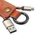Новое Прибытие REMAX Телефонный Кабель Кожа 3.0A Micro USB Портативный Зарядки Кабель для Передачи Данных для Android Смартфон Брелок Дизайн