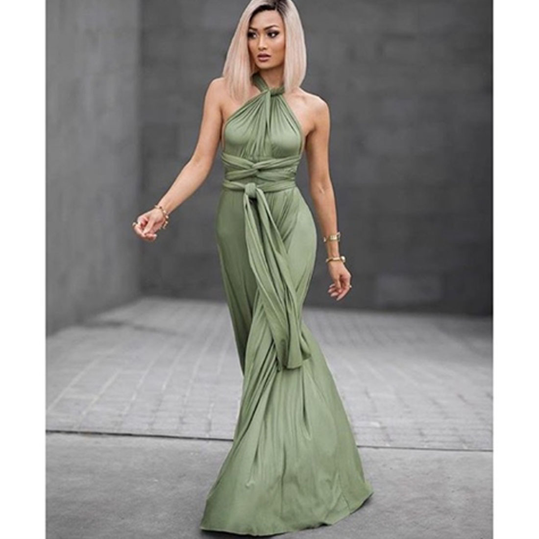 d6c56cd2af US $28.83 15% OFF|DIY Women Strapless bandage Variety bohemian oblique  cross sexy evening maxi dresses vestido de festa black infinity party  dress-in ...