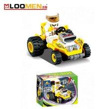 6812 27Pcs Kazi City Racing Car Model Building Blocks Classic Enlighten Figure Toys For Children Compatible Legoe
