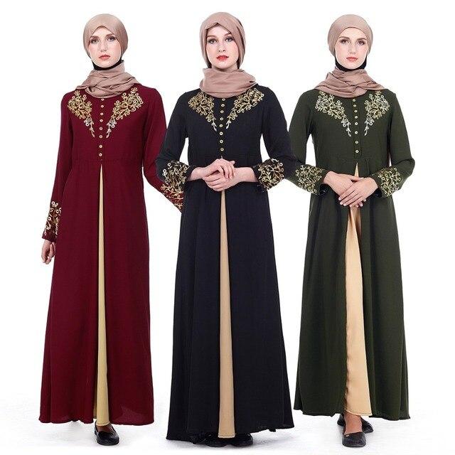 83c0d8a0010dd US $27.8 28% OFF|Islam Arabia robe Muslim women Long sleeve maxi Dress  Abaya Gowns Dubai Full coverage evening gown Thobe Arab Turkey coat  Z80502-in ...