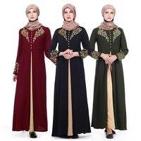Islam Arabia robe Muslim women Long sleeve maxi Dress Abaya Gowns Dubai Full coverage evening gown Thobe Arab Turkey coat Z80502