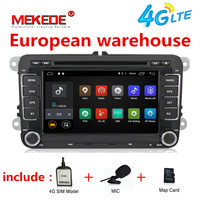 Free shipping android 7.1 Car dvd player radio for Volkswagen VW golf 4 golf 5 6 touran passat B6 jetta t5 polo GPS Navi 4G WIFI