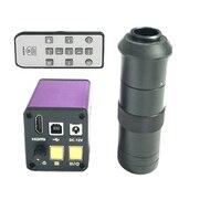 1080 p 16MP Hdmi 産業用ビデオ USB 電子顕微鏡カメラ 8X 130X C マウントレンズガラス時計 jewlery PCB 電話の修理 -