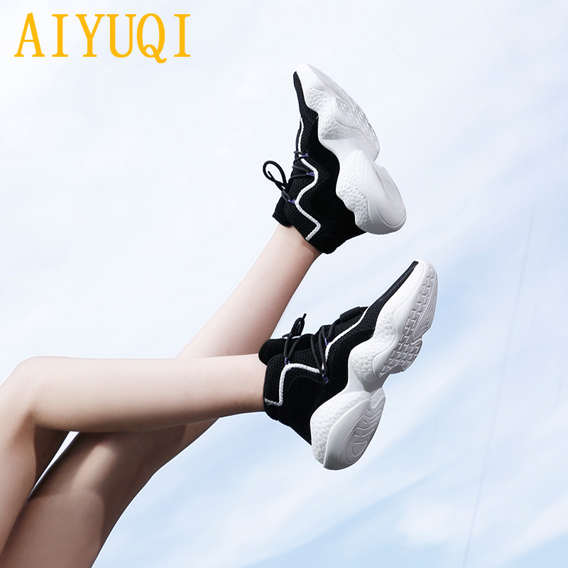 Women shoes sneakers 2019 spring new women shoes casual Breathable Jogging footwear flat shoes for woman not tired walking in Women 39 s Flats from Shoes