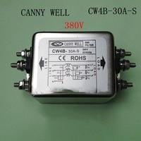 CW4B 30A S EMI Macht filter 380 V 30A Schroef interface filter Elektrische Apparatuur-in Gereedschapsdelen van Gereedschap op