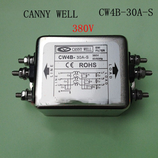 CW4B-30A-S  EMI Power filter  380V 30A Screw interface filter Electrical Equipment cw4b 30a s emi power filter 380v 30a