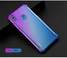 Soft TPU Full Protect Cover for Huawei Y9 Y7 Pro Y5 P Smart Plus 2019 Case Rainbow Gradient Airbag 2018