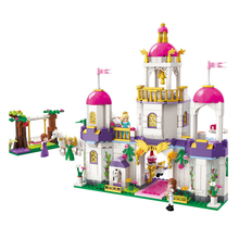 купить Princess Castle Building Blocks Girl Friends Kids Model Toys Figures bricks Compatible with 2610 дешево