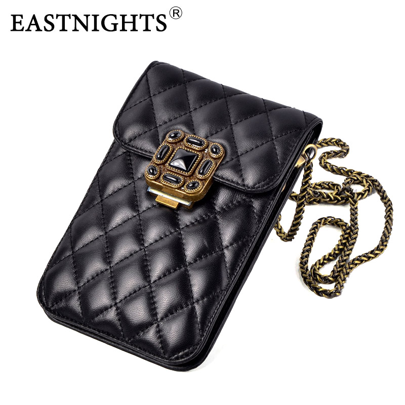 EASTNIGHTS 2017 Top Quality Sheepskin Phone Bag Vintage Women Shoulder Bags Crossbody Bags For Women Mini
