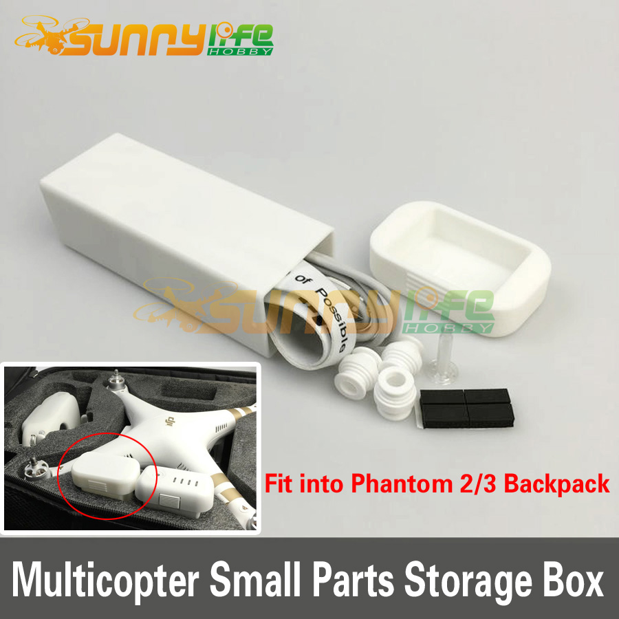 3D Printed Small Parts Accessories Storage Box Carrying Case for DJI Phantom 2/3 Multicopter
