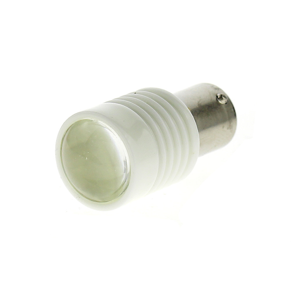 1156 / Ba15s High Power 6 leds White Lights Ceramic Shell With Lens Dc 12V Car Tail Brake Lamp Light bulb