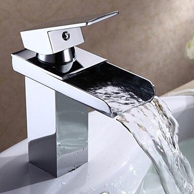 Bathroom Sink Basin Faucet Style Single Handle Waterfall Water Tap ,Torneira Para De Banheiro MisturadorBathroom Sink Basin Faucet Style Single Handle Waterfall Water Tap ,Torneira Para De Banheiro Misturador