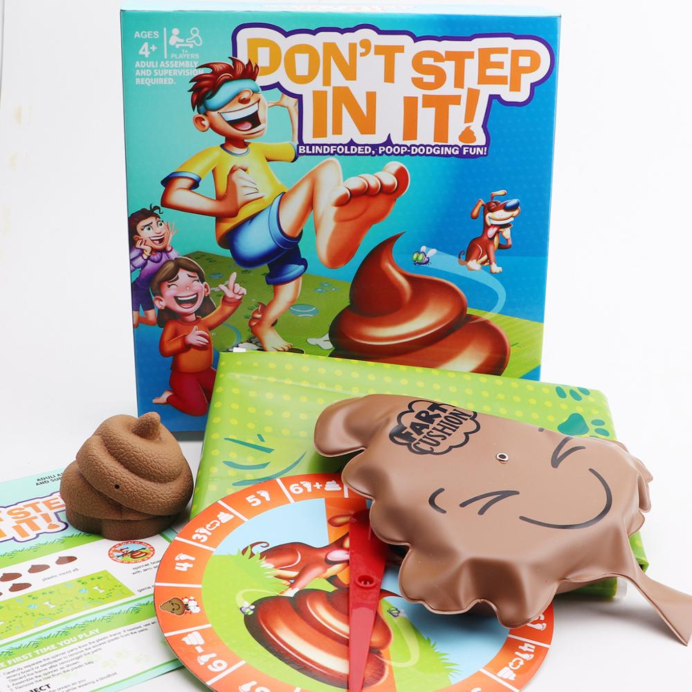 Don't Step In It Interaction Party Game Laughting Funny games game Blindfolded poop dodging fun for kids Spoof amusing children