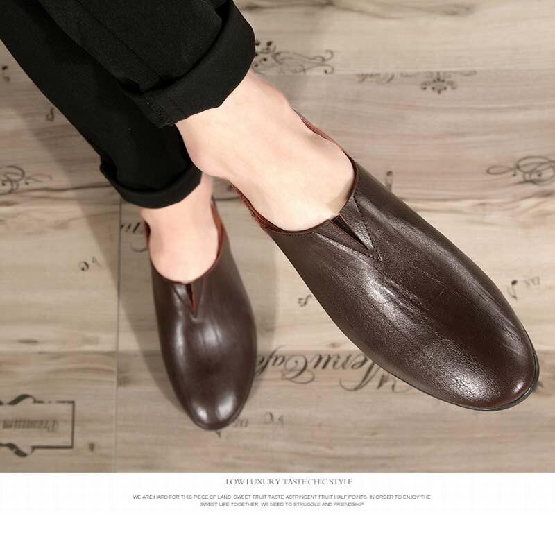 O Homens Confortável Para Black Sapatos yellow E Casual Genuíno Macio Casuais De Novos Grande Couro Homem brown Fundo Tamanho Vestido Yatntnpy Plana Moda Aqw80